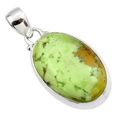 16.60cts natural lemon chrysoprase 925 sterling silver pendant jewelry r46153