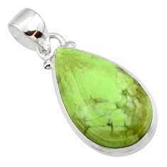12.22cts natural lemon chrysoprase 925 sterling silver pendant jewelry r46155