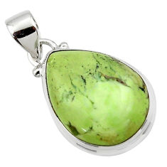 14.35cts natural lemon chrysoprase 925 sterling silver pendant jewelry r46158