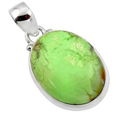 15.05cts natural lemon chrysoprase 925 sterling silver pendant jewelry r46160