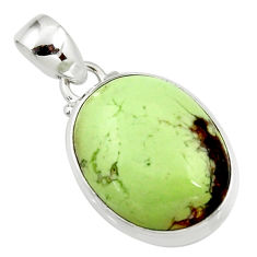 15.22cts natural lemon chrysoprase 925 sterling silver pendant jewelry r46921