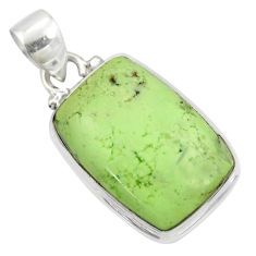 14.23cts natural lemon chrysoprase 925 sterling silver pendant jewelry r51163