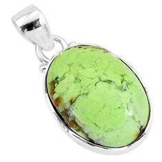 12.22cts natural lemon chrysoprase 925 sterling silver pendant jewelry r94583