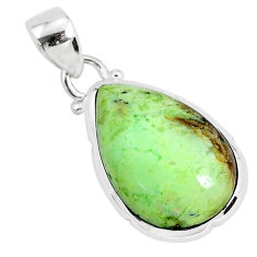 11.73cts natural lemon chrysoprase 925 sterling silver pendant jewelry r94585