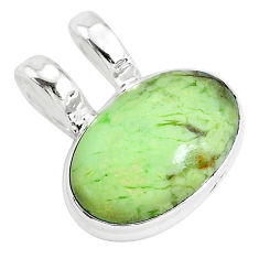 12.22cts natural lemon chrysoprase 925 sterling silver pendant jewelry r94586