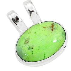 13.15cts natural lemon chrysoprase 925 sterling silver pendant jewelry r94591