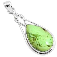 15.08cts natural lemon chrysoprase 925 sterling silver pendant jewelry r94592