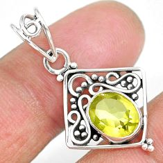 2.74cts natural lemon topaz 925 sterling silver pendant jewelry r90102