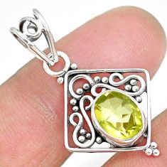 2.77cts natural lemon topaz 925 sterling silver pendant jewelry r90104