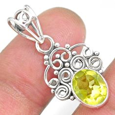 2.74cts natural lemon topaz 925 sterling silver pendant jewelry r90108
