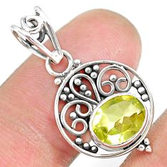 2.94cts natural lemon topaz 925 sterling silver pendant jewelry r90111