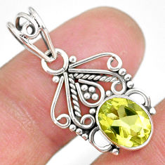 2.93cts natural lemon topaz 925 sterling silver pendant jewelry r90112