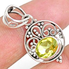 2.94cts natural lemon topaz 925 sterling silver pendant jewelry r90115