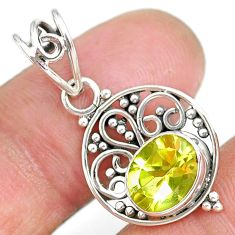 3.06cts natural lemon topaz 925 sterling silver pendant jewelry r90118