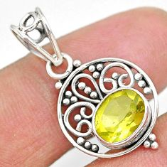 2.61cts natural lemon topaz 925 sterling silver pendant jewelry r90123