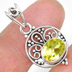 2.73cts natural lemon topaz 925 sterling silver pendant jewelry r90124
