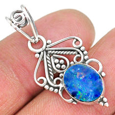 2.41cts natural lemon topaz 925 sterling silver pendant jewelry r90137