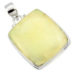 21.48cts natural libyan desert glass (gold tektite) 925 silver pendant r37790