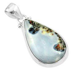 15.65cts natural malinga jasper 925 sterling silver pendant jewelry t18421