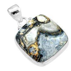 19.72cts natural malinga jasper 925 sterling silver pendant jewelry t18422