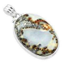 22.54cts natural malinga jasper 925 sterling silver pendant jewelry t18426