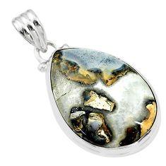 17.57cts natural malinga jasper 925 sterling silver pendant jewelry t18428