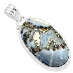 18.70cts natural malinga jasper 925 sterling silver pendant jewelry t18434