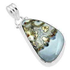 15.65cts natural malinga jasper 925 sterling silver pendant jewelry t18435