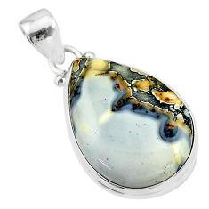 15.62cts natural malinga jasper 925 sterling silver pendant jewelry t18437