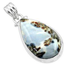 16.07cts natural malinga jasper 925 sterling silver pendant jewelry t18438