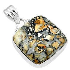 17.57cts natural malinga jasper 925 sterling silver pendant jewelry t18440