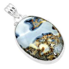 24.00cts natural malinga jasper 925 sterling silver pendant jewelry t18441