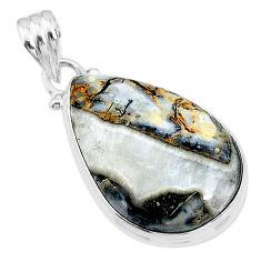 16.73cts natural malinga jasper 925 sterling silver pendant jewelry t18449