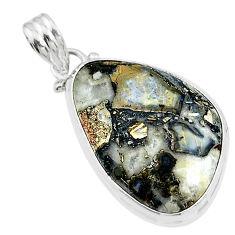 17.57cts natural malinga jasper 925 sterling silver pendant jewelry t18453