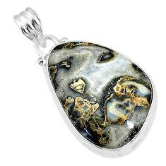 18.68cts natural malinga jasper 925 sterling silver pendant jewelry t18454