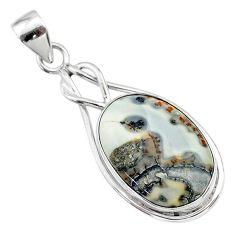 14.20cts natural malinga jasper 925 sterling silver pendant jewelry t22869