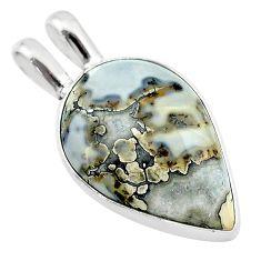 13.70cts natural malinga jasper 925 sterling silver pendant jewelry t22873