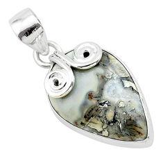13.67cts natural malinga jasper 925 sterling silver pendant jewelry t22882