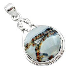 16.70cts natural malinga jasper 925 sterling silver pendant jewelry t22883