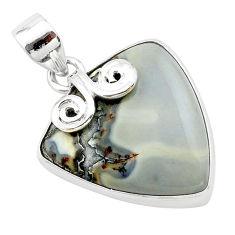 16.70cts natural malinga jasper 925 sterling silver pendant jewelry t22885