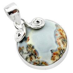 15.65cts natural malinga jasper 925 sterling silver pendant jewelry t22886
