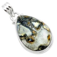 14.23cts natural malinga jasper 925 sterling silver pendant jewelry t22888
