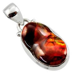 10.79cts natural mexican fire agate 925 silver pendant r50050