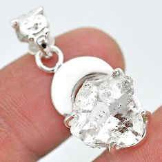 9.05cts natural moon herkimer diamond 925 sterling silver pendant t29621