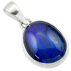 12.22cts natural multi color australian opal triplet 925 silver pendant r40161