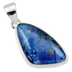 12.62cts natural multi color australian opal triplet 925 silver pendant r40175