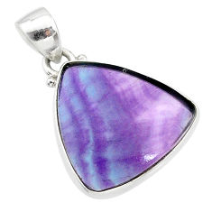 12.58cts natural multi color fluorite 925 sterling silver pendant jewelry t21309