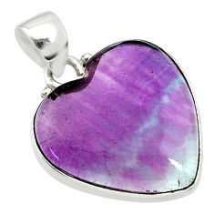 14.23cts natural multi color fluorite 925 sterling silver pendant jewelry t21310