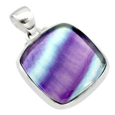 15.68cts natural multi color fluorite 925 sterling silver pendant jewelry t21313