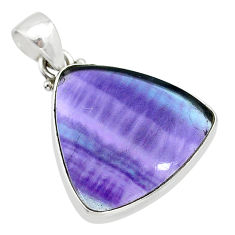 13.15cts natural multi color fluorite 925 sterling silver pendant jewelry t21320